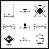 Vintage tasarım geometrik öğeleri — Stok Vektör