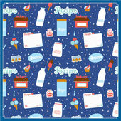 Cute food seamless pattern — Stock vektor
