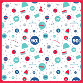 Seamless pattern with vintage hipsters unique sale tags — Stockvektor