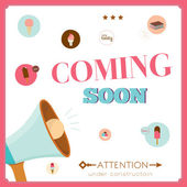 Template of vintage coming soon poster — Stock Vector