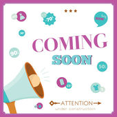 Template of  vintage coming soon poster. — Stock Vector