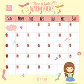Unusual calendar for 2015 with cartoon and funny animals and kids with place text. — Stock Vector