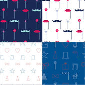 Seamless  pattern with retro party elements. — Stock Vector