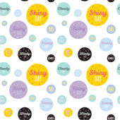 Unusual seamless childish pattern with cartoon and funny smiley weather icons. — Vecteur