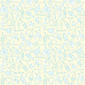 Seamless background pattern of retro alcoholic bottles — Stock Vector