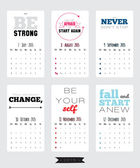 Collection of unusual motivational posters calendar about sport, healthy lifestyle and fitness for men and women. — Stock Vector