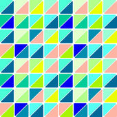 Retro design pattern with mosaic triangles on colorful background — Stock Vector