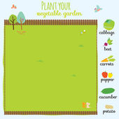 Concept game where you have to plant your garden — Stock Vector