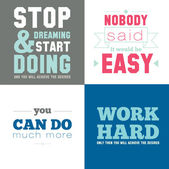 Collection of unusual motivational posters on the sport — Vecteur
