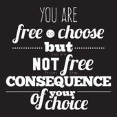 You are free to choose — Vector de stock