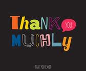 Thank you muchly — Vector de stock