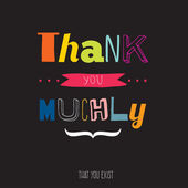 Thank you muchly — Stock vektor