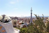 Parc guell Barcellona — Foto Stock
