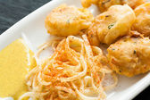 Fish fritters — Stock Photo