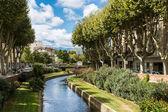 Perpignan river — Stock Photo