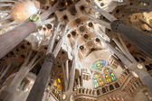 Inside La Sagrada Familia — Stock Photo