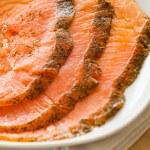 Salmon snack — Stock Photo #22063651