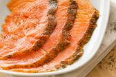 Salmon snack — Stock Photo