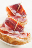 Jabugo ham tapas — Stock Photo