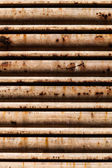 Oxidated metal blind — Stock Photo
