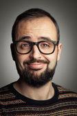 Bearded hiptser — Stock Photo