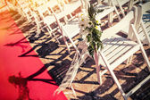 White wedding chairs — Stock Photo