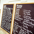 Stock Photo: Tapas chalkboard