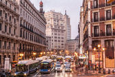 Madrid rush hour — Stock Photo