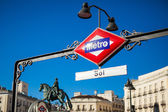 Metro van madrid — Stockfoto