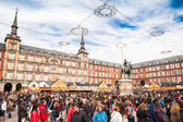 Plaza Mayor on Christmas — Stock Photo