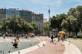 Catalunya Square, Barcelona — Stock Photo