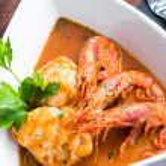 Monkfish with prawn — Stock Photo #40084151
