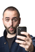 Looking at phone — Stock Photo