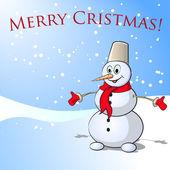 праздничная снеговик — Cтоковый вектор