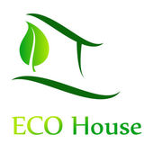 Eco House Vector — Stock Vector