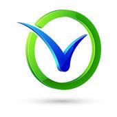Check mark, vector illustration — Stock Vector