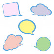 Set of colorful speech bubbles. — ベクター素材ストック