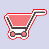 Shopping cart. — Stock Vector