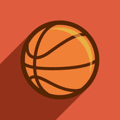 Basketball flat design. — Stock Vector
