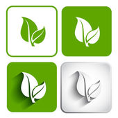 Eco icon green leaf vector illustration. Eco concept. — Stockvector