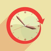Clock time flat vector — Stock Vector