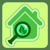 Green house icon — Stock Vector