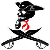 Skull and swords — Stock Vector