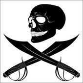 Skull-Head — Stock Vector