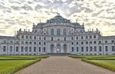 Stupinigi palace and front garden near Turin, Italy — Stock Photo