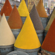 Colorful cones of spices — Stock Photo