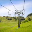 Empty ski resort chairlift in summer — Stock Photo