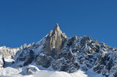 The Aiguilles du Midi mountain range in Chamonix — Stock Photo