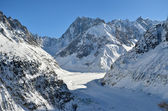 The Mer de Glace, Sea of Ice in Chamonix, France — Stock Photo