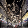 Stock Photo: ViRomin Turin, Italy, lit up by Christmas lights